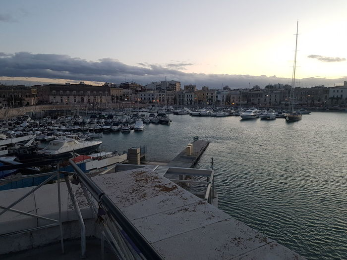 Trani S7flat Tranibynight Cattedrale Yellaspuglia Italy Apuglia Water Cloud - Sky Nautical Vessel Harbor Sky Outdoors Sea Yacht
