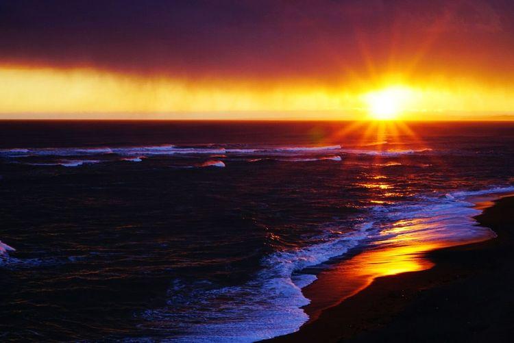嵐のあと Sunset Sun