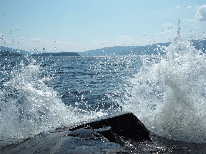 Waves Waves Water Sea Motion Splashing Nature Wave No People Power In Nature Power Beauty In Nature Crash Sky Aquatic Sport Close-up Day Breaking Outdoors Sport