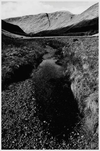 Landscape Nature Scenics Outdoors Mountain Range Beauty In Nature Water Cairngorms National Park GlenDoll Scotland Tourism Attractions Scenic Beauty Leisure Woodlands Tranquil Scene Shadow And Light black and white photography