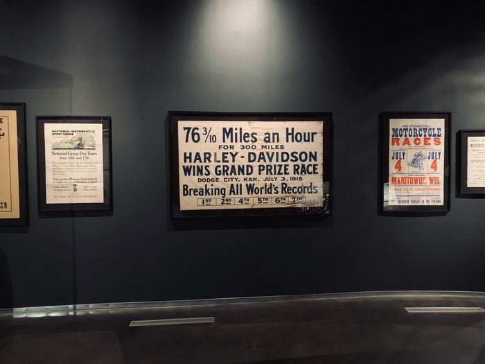 Information sign on wall in museum