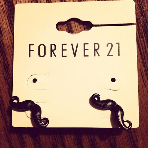 omg! New earrings Mustache Earrings Loveeee