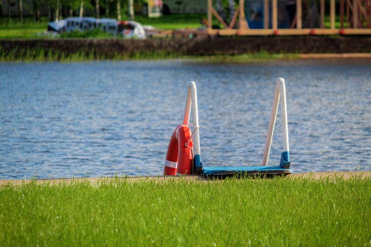 Sailboat in lake