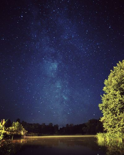 Star - Space Night Astronomy Milky Way Sky Constellation Star Field Beauty In Nature Space Outdoors Landscape Mazury Poland