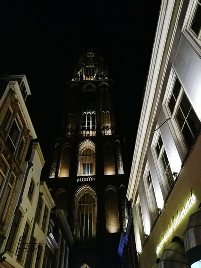 De Dom, Utrecht City City Street City Life low angle view Architecture Religion Object Photography Abstract Photography Eye4photography  EyeEm Best Shots Abstract Art Architecture Hello World Historical Monuments Old Buildings Tourist Attraction  Arch Travel Destinations Historical Building Space And Astronomy Low Angle View Night Architecture Photography Church Architecture Night Lights Night Photography Clock Tower The Netherlands