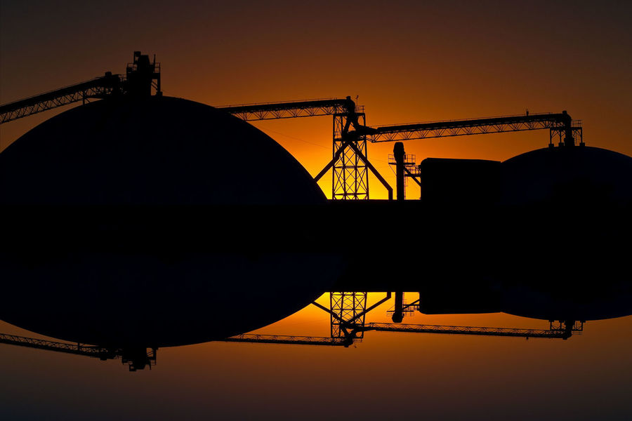 Industrial Equipment Industrial, No People Outdoors Reflections, Silhouette Sky Sunrise Sunrise_sunsets_aroundworld Sunset Sunset,