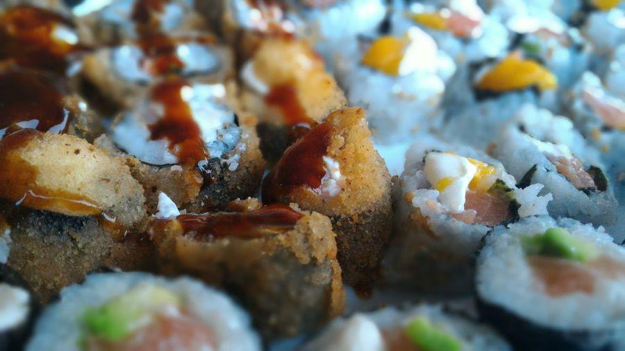 Detail shot of sushi