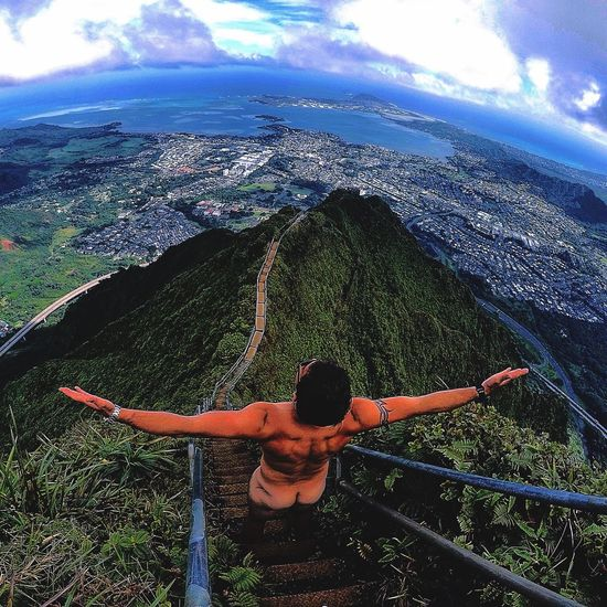 Hiking Stairway To Heaven in Oahu Hawaii . Gopro Activeliving Loving Life! Travel Adventure Club