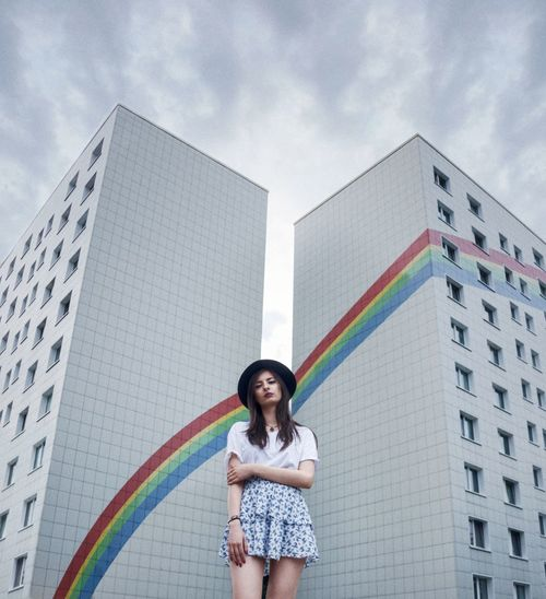 🌈 One Woman Only Only Women One Person Adults Only One Young Woman Only Adult Front View People Holding Day Standing Low Angle View Human Body Part Multi Colored Outdoors City Young Adult Artist Portrait Smiling Rainbow Architecture Portrait Of A Woman Portraiture Clouds Berlin Love The Portraitist - 2018 EyeEm Awards The Street Photographer - 2018 EyeEm Awards Capture Tomorrow International Women's Day 2019 My Best Photo