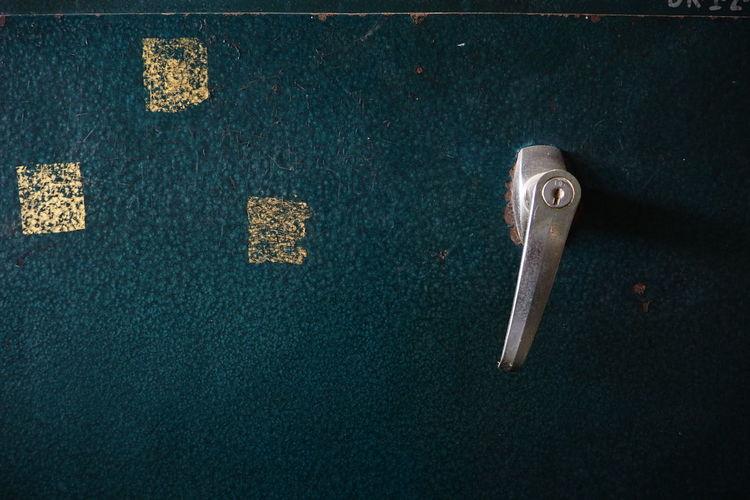 Close-Up Of Locker Door