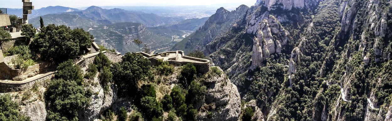 Panaramic view from Montserrat, Barcelona Barcelona, Spain Montserrat Mountains Nature Panaramic SPAIN