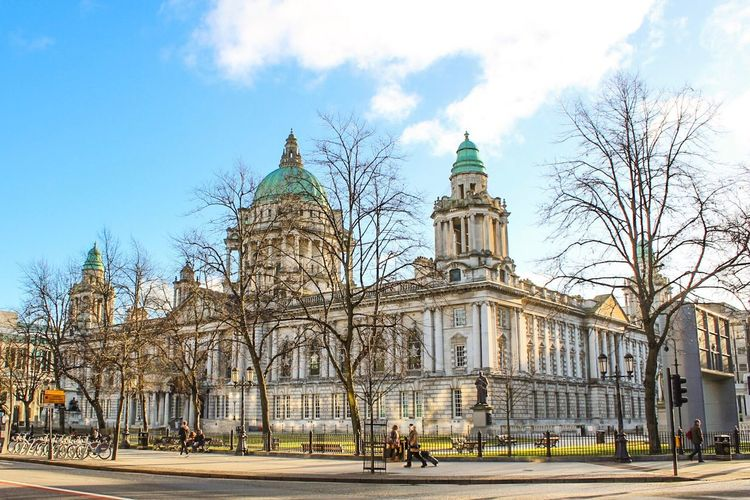 Belfast Cityhall, Historic Building, Belfast, Northern Ireland Building Exterior Architecture Built Structure City Travel Destinations Sky Outdoors Government Tree Bare Tree Politics And Government Day Religion No People Dome Cultures The Architect - 2017 EyeEm Awards