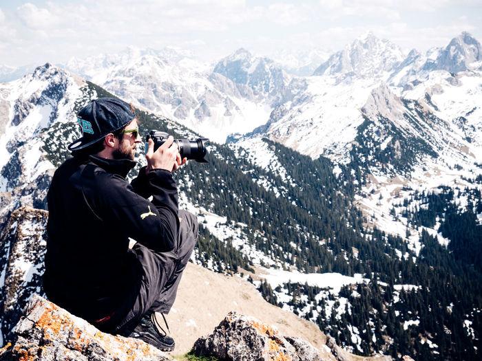 Men in mountains