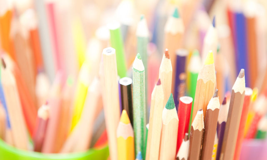 Colorful crayons Arts Arts And Crafts Close-up Crayons Creativity Focus On Foreground Pencils Selective Focus Sketching The Color Of School