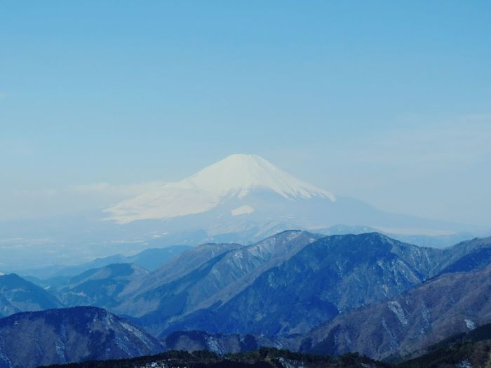 Scenic View Of Tanzawa Mountains Against Sky