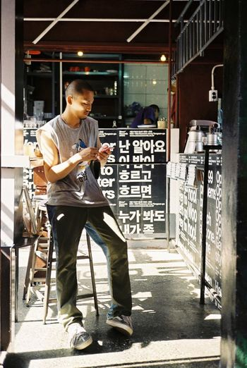 Korean man rollei35s One Person Adults Only One Man Only Young Adult Young Youth Of Today Rollei35 Film Photography Film Filmisnotdead Man Fashion Seoul Korean Korea