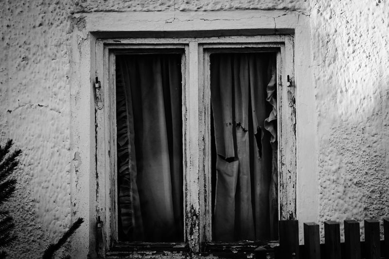 Tattered and Torn; Oldwindow Old Buildings Old Architecture Old Window Old House Torn Blackandwhite Black And White Black & White Blackandwhite Photography Still Life Photography StillLifePhotography Abstract EyeEm Germany Oldfarmhouse Repairs Needed Repairs Wooden