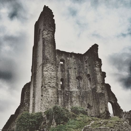 Corfe Castle Sky Low Angle View Cloud - Sky Old Ruin No People History Outdoors Architecture Dorset Corfe Castle Purbeck England Fort