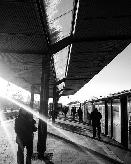 Busystranger Berlin Train Station Charlottenburg  S Bahn Bnw Blackandwhite Taking Photos Myberlin Ray Of Light People Watching