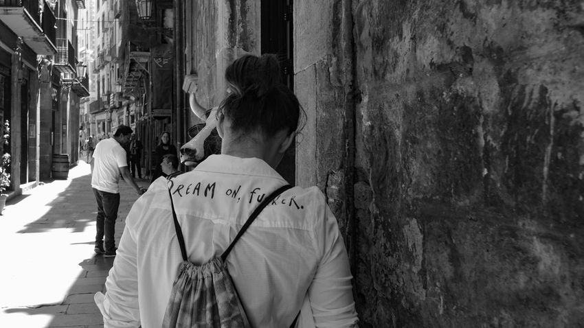 Barcelona Black And White City City Life May 2016 People Streetphotography Taking Photos