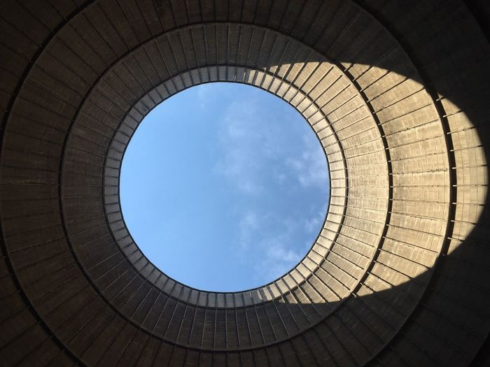 Directly Below Shot Of Skylight