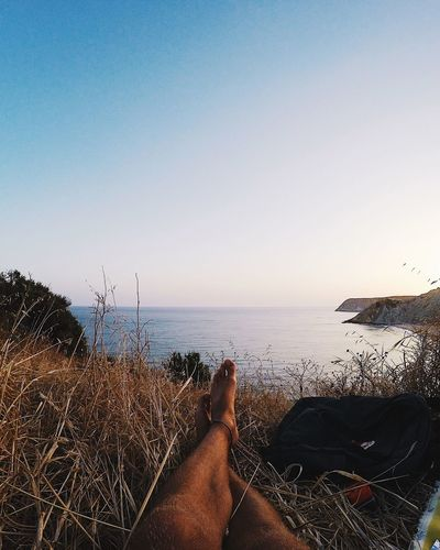 Sea Burgau Portugal Sunset