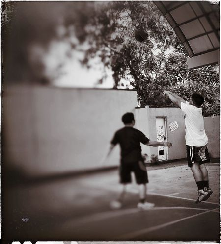 Iphonephotography Streetbasketball Father & Son