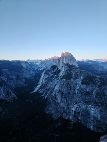 Yosemite National Park Outdoors Sunset Granite Cliff Power In Nature Landscape Viewpoint Vista Iconic Landscape Yosemite Valley Scenics Mountain Snow Beauty In Nature Snowcapped Mountain Cold Temperature Mountain Range Travel Destinations Tranquil Scene Dusk