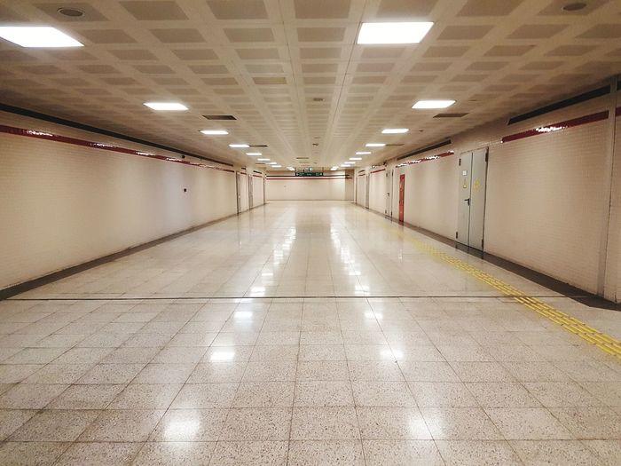 The Way Forward Architecture Metro Underground Station  Underground Walkway No People Symmetry