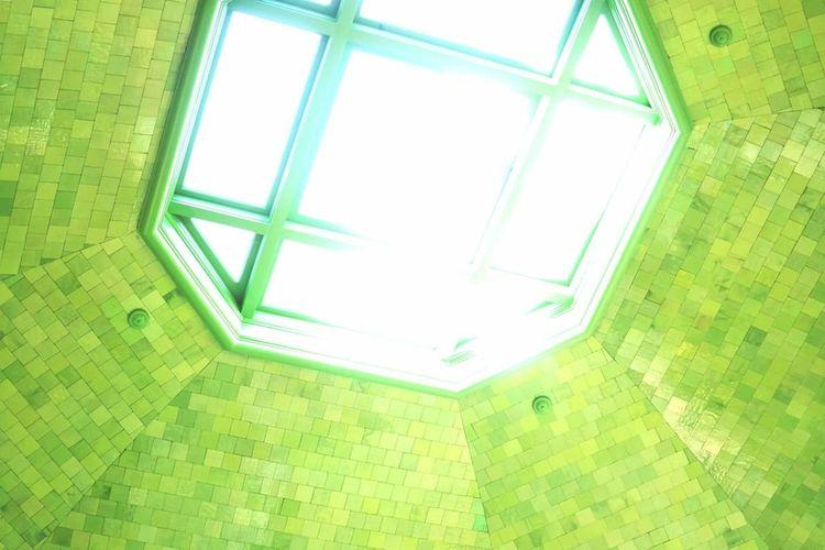 Pattern Geometric Shape Architecture Green Color Backgrounds Belle Isle Aquarium Bright Sunshine Detroit EyeEmNewHere Weekly Welcome The Architect - 2017 EyeEm Awards