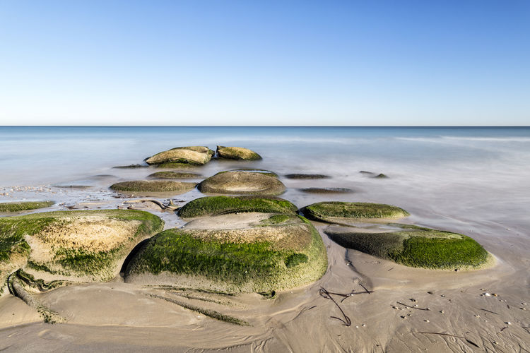 Beach Beauty In Nature Clear Sky Day Horizon Over Water Landscape No People Sand Scenics Sea Sky Tranquility Water
