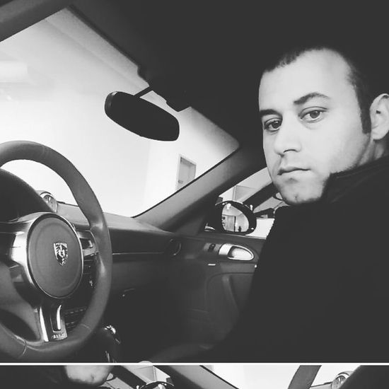 Siyah Beyaz Porshe Turbo Ibrahimatasevn