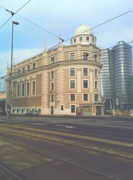 Postcard Freezing Cold Winter Day Vienna City Life Tranquility Winter Clear Sky Look Up And Thrive Architecture European Architecture Urban Photography Looking To The Other Side Street Photography Vienna <3 Baby Its Cold Outside ❄ Urania Observatorium