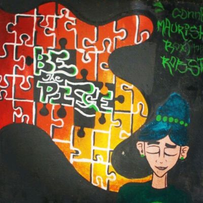 Be The piece Picoftheday Wall Painting Boy Piece Of Mind  Colourful Enjoy Photography Everydaynikon Cheapcamerachallenge Nikon_coolpixl29 Friends Fun Shopping Bandra Loveit L4l Ty Nikon