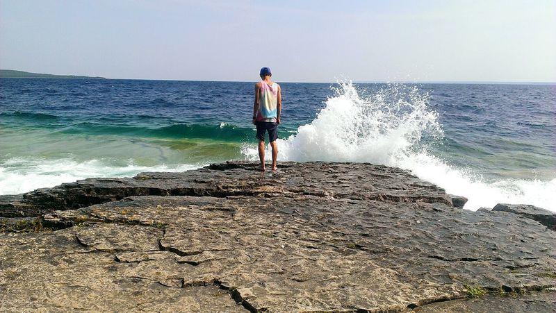 Impact Enjoying Life Last Days Of Summer Waves Crashing Traveling Flowerpotisland