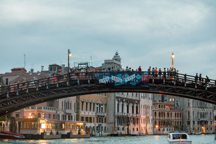A Day in Venice Academmia Bridge Architecture Bridge - Man Made Structure Building Exterior Built Structure Canal Grande Cloud - Sky Illuminated Tourism Travel Destinations Travel Photography Water