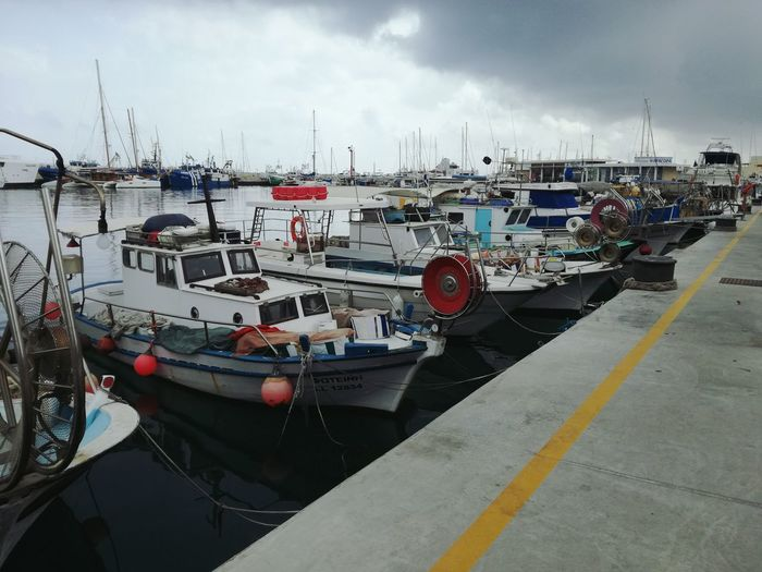 Harbor Water Outdoors No People Day Sea Sky Mode Of Transport Limassol Marina