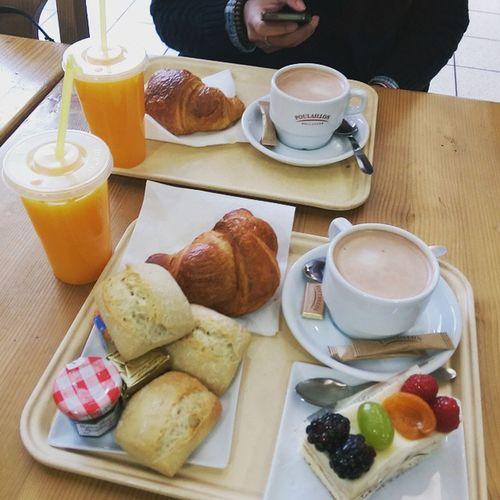 Comme je les aimes 😘 Breakfast Poulaillon Pleasure Oklm France 🇫🇷