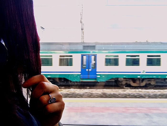 LawSbreaker DISTINGUERE Italy One Person Lifestyles Women Real People Train Rail Transportation Public Transportation Hand Waiting First Eyeem Photo