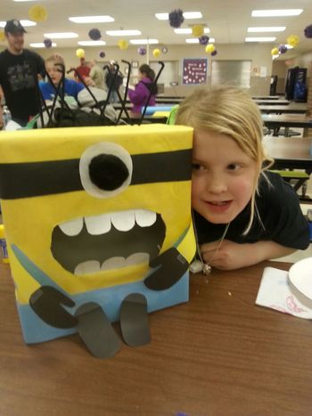 Make It Yourself Family night at project pass, we made Valentine boxes.