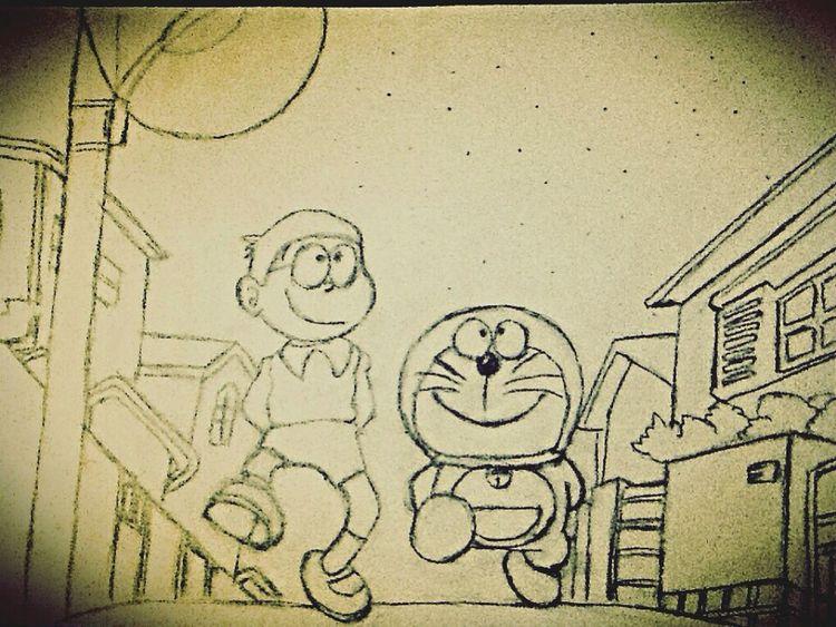 无聊没事做,画了张哆啦A梦