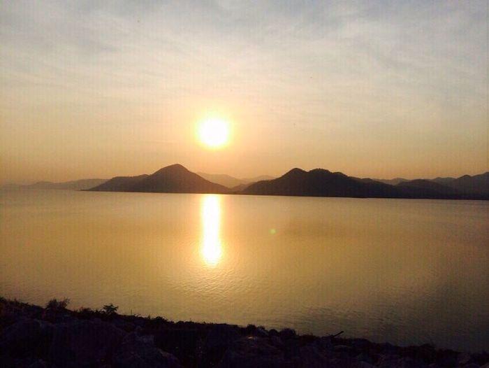 Sun Sunset Sky Mountain