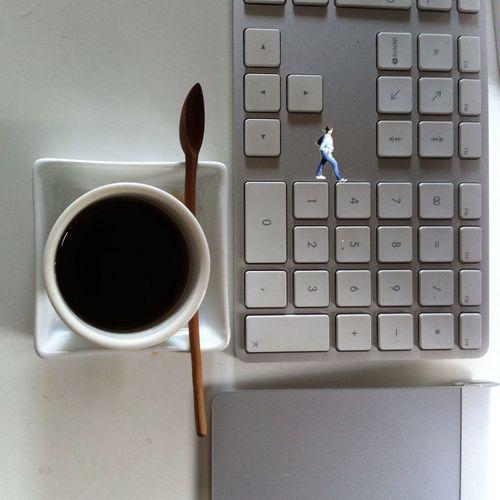 Between Coffee, Keyboards Key And Geometry