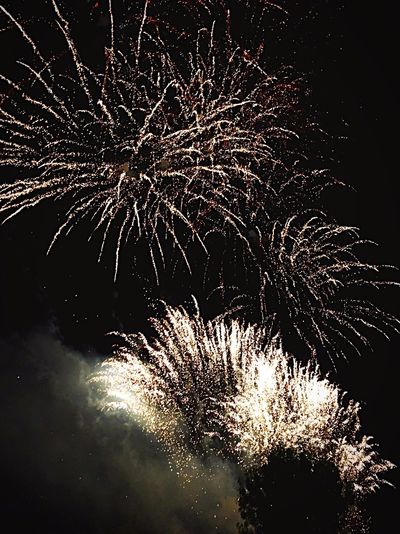 Beautiful Organised Firework Display Night Sky Long Exposure Dark Exploding Celebration Nature Sparks Event Galaxy