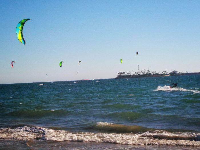 Kitesurfing ! Belmont Shore Being A Beach Bum Enjoying The Sun Long Beach California Surfing Sunny Day BREEZY Life Is A Beach Getting A Tan