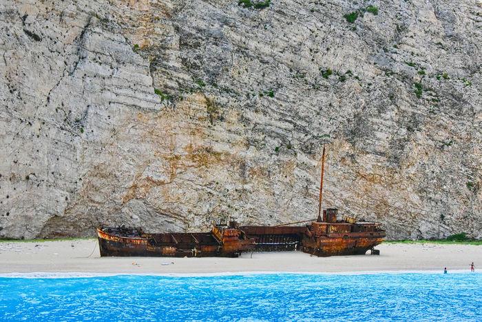 Navajo beach at Zakynthos island in Greece GREECE ♥♥ Greece Photos Holidays Relaxing Beach Blue Greece Islands Sea Seascape Shipwreck Bay Shipwreck Beach Travel Destinations