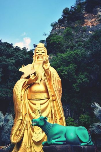 One Day Trip Trip Photo Ipoh,Malaysia Temple Amitabha Statue Sculpture Religion Spirituality Low Angle View No People Sky Outdoors Day