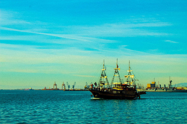 Blue Cloud - Sky Day Mode Of Transport Sailing Ship Sea Ship Sky Transportation Travel Destinations Water