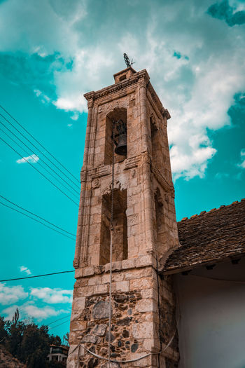 Old Church Bell Church Tradition Ancient Civilization Architectural Column Architecture Building Exterior Built Structure Cloud - Sky History Kakopetria Low Angle View Nature Old Place Of Worship Saint Sky The Past Tourism Tower Traditional Travel Travel Destinations Village