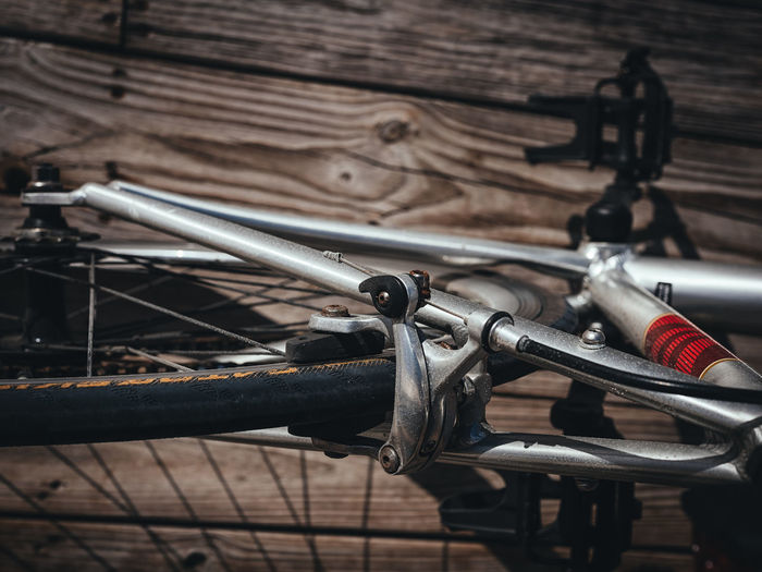Bike Details Fujifilm_xseries Wooden Tire Selective Focus Road Bike Photographyisthemuse Outdoor Photography Metal Light And Shadow Details Close-up Bicycle Aluminum Wheel Transportation Sunlight GFX50s
